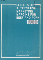 Effects of Alternative Marketing Margins for Beef and Pork PDF