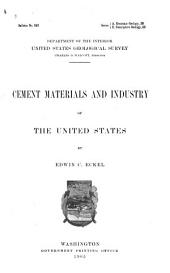 Cement Materials and Industry of the United States