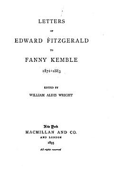 Letters    to Fanny Kemble  1871 1883 PDF
