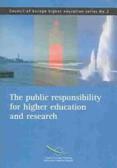 The Public Responsibility for Higher Education and Research: Volume 638