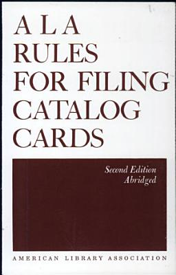 ALA Rules for Filing Catalog Cards PDF