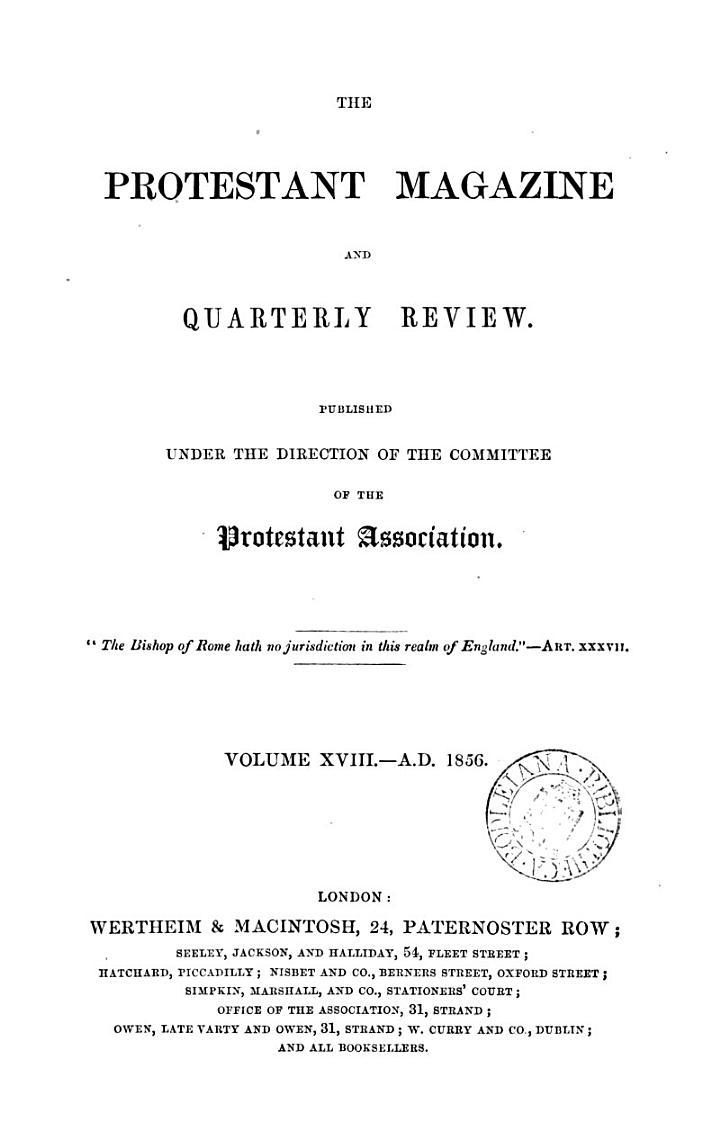 The Protestant magazine