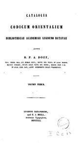 Catalogus codicum orientalium Bibliothecae Academiae Lugduno-Batavae: المجلد 5