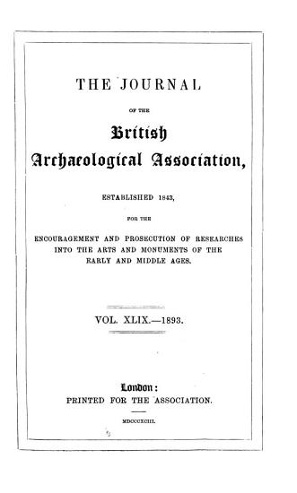 Journal of the British Archaeological Association PDF