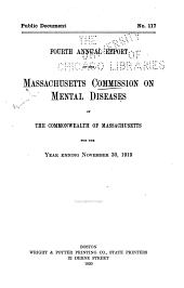 Annual Report of the Massachusetts Commission on Mental Diseases of the Commonwealth of Massachusetts for the Year Ending ...