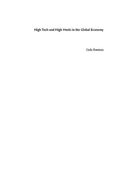 High Tech and High Heels in the Global Economy Pdf Book