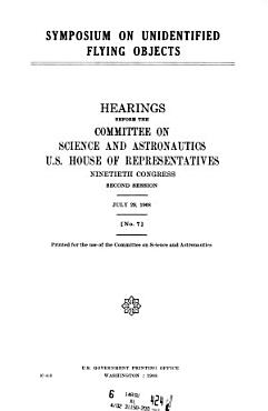 Symposium on Unidentified Flying Objects  Hearings   90 2  July 29  1968 PDF