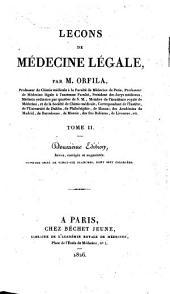 Lecons de medecine legale. Ouvrage orne de plaches: Volume3