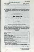 To Amend The Homeland Security Act of 2002 to Establish A National Bio and Agro Defense Facility  August 1  2008  110 2 House Report 110 819  Part 1 PDF