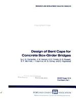 Design of Bent Caps for Concrete Box girder Bridges PDF