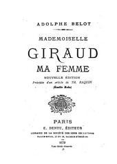 Mademoiselle Giraud: ma femme