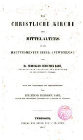 Die christliche Kirche des Mittelalters in den Hauptmomenten ihrer Sntwicklung...
