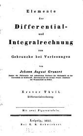 Elemente der Differential- und Integralrechnung, 2 Theile