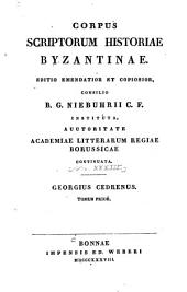 Corpus scriptorum historiae byzantinae: Volume 33