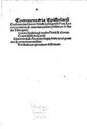 Commentaria epistolarum conficiendarum Henrici Bebelii