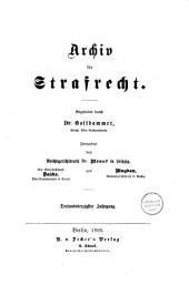 Archiv für preußisches Strafrecht: Band 43