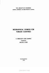 Biographical Sources for Foreign Countries     PDF