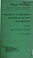Agricultural Appropriations PDF