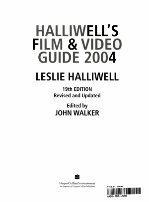 Halliwell s Film   Video Guide 2004 PDF
