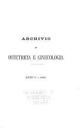 Archivio di ostetricia e ginecologia ...: Volume 1