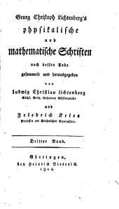 Georg Christoph Lichtenberg's vermischte Schriften: Band 8