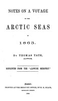 Notes on a voyage to the Arctic seas in 1863     Reprinted from the    Alnwick Mercury    PDF
