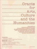 Grants for Arts  Culture and the Humanities PDF
