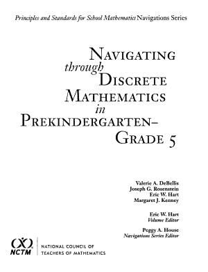 Navigating Through Discrete Mathematics in Prekindergarten Through Grade 5 PDF