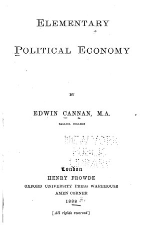 Elementary Political Economy PDF