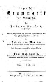 Ungarische Grammatik für Deutsche