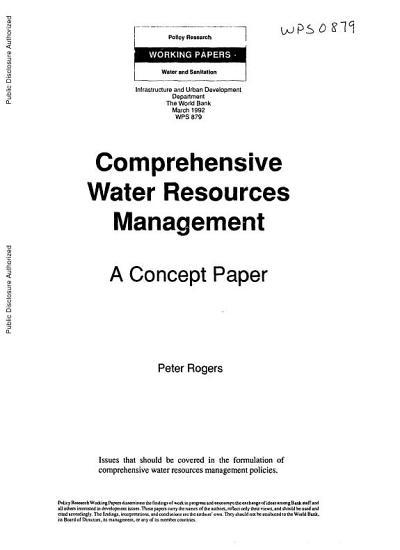 Comprehensive Water Resources Management PDF