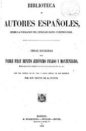 Obras escogidas del padre fray Benito Jerónimo Feijoo y Montenegro: Volumen 56