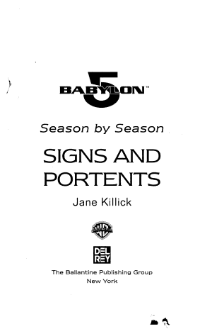 Babylon 5  Signs and Portents