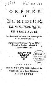 Orphée et Euridice, drame-héroïque