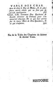 Histoire de l'admirable Don Quichotte de la Manche