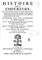 Histoire des empereurs ...: tome troisieme