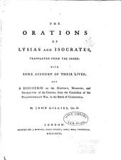 The orations of Lysias and Isocrates: translated from the Greek: