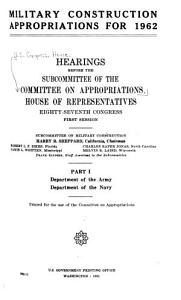 Military Construction Appropriations for 1962 PDF