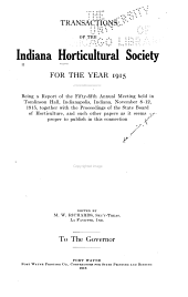Transactions of the Indiana Horticultural Society ...: Volume 55
