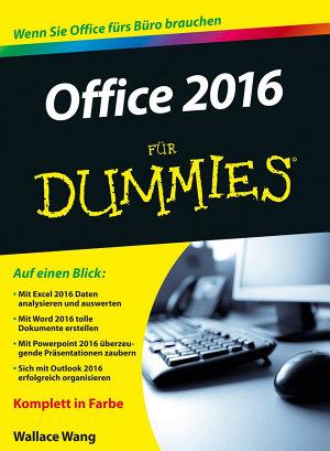 Office 2016 f  r Dummies PDF