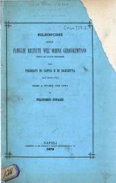 Elenchi delle famiglie ricevute nell'ordine gerosolimitano formati per sovrana disposizione dai prioráti di Capua e di Barletta nell' anno 1801