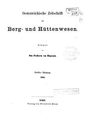 Osterreichische Zeitschrift fur Berg und Huttenwesen PDF