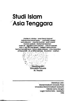 Studi Islam Asia Tenggara PDF