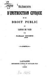 Éléments d'instruction civique et de droit public du Canton de Vaud par Ferdinand Lecomte