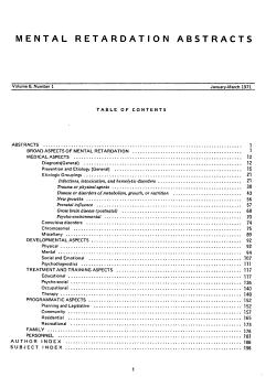 Mental Retardation Abstracts PDF