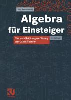 Algebra f  r Einsteiger PDF