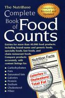 The NutriBase Complete Book of Food Counts PDF