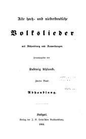 Schriften zur Geschichte der Dichtung und Sage: Abhandlung zu den volksliedern