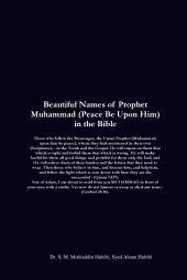 Beautiful Names of Prophet Muhammad (Peace Be Upon Him) in the Bible