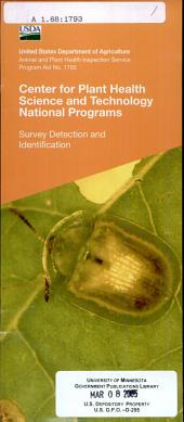 Center for Plant Health Science and Technology national programs: Survey Detection and Identification